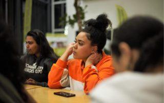 Tanisha tijdens een RADY Community Heroes 070 workshop jongeren talentontwikkeling