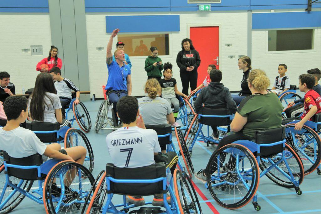 Community Heroes 070 team centrum rolstoelbasketbal talentontwikkeling den haag MDT Stichting READY