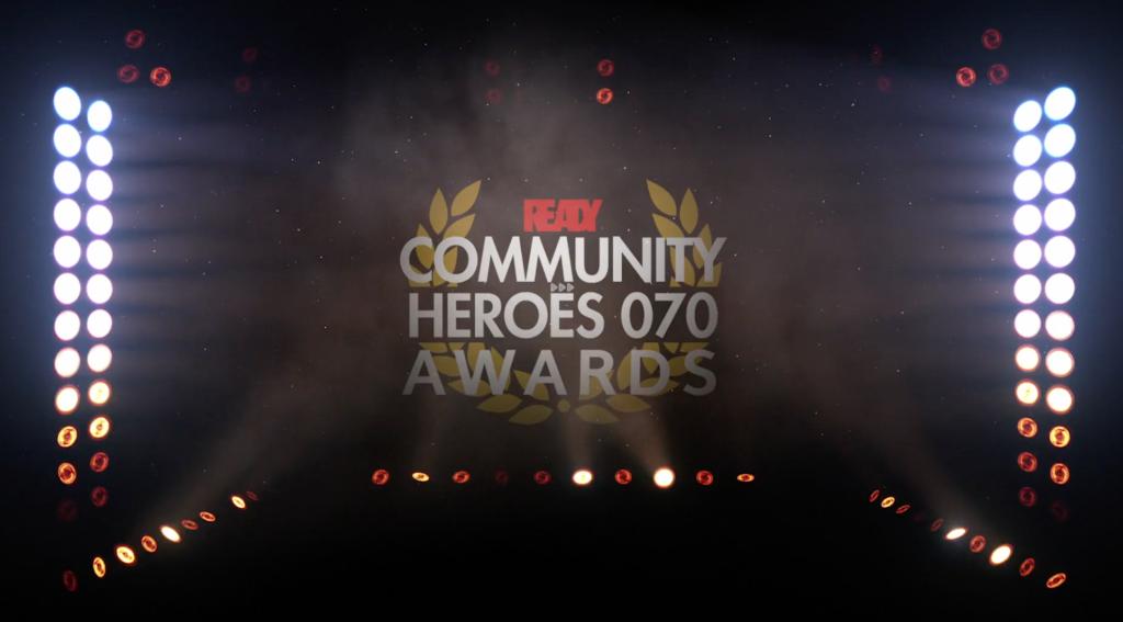 Awards logo met spotlights