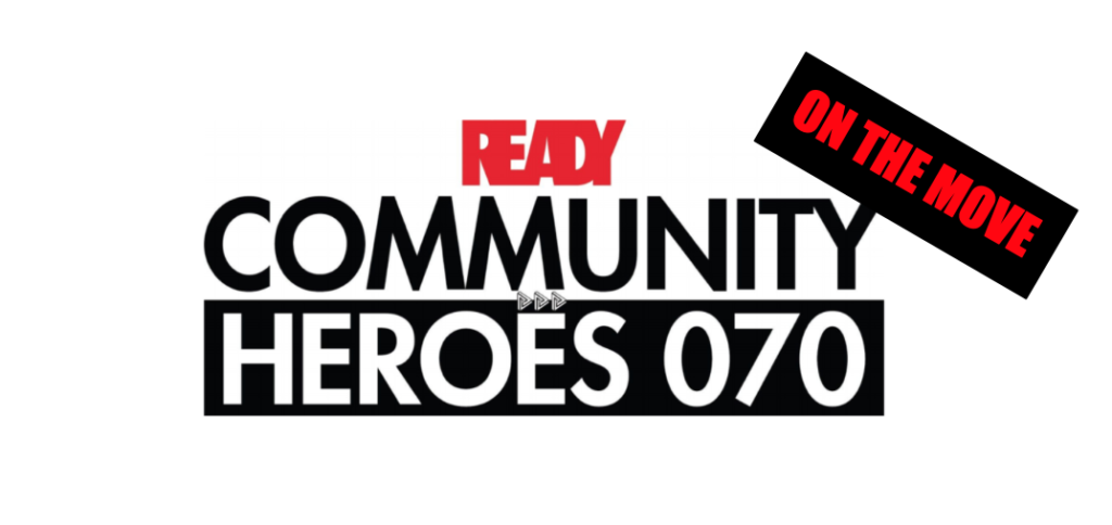 Logo Community Heroes on the move
